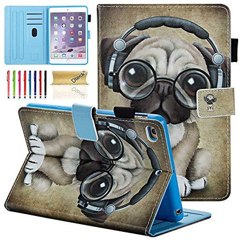iPad Mini 1 2 3 4 Case, Dteck Slim Fit [Photo Frame & Stylus Slot] Multi-Angle View Stand PU Leather Case with Auto Wake/Sleep Feature Smart Cover for Apple iPad Mini 1/2/3/4, Music Dog