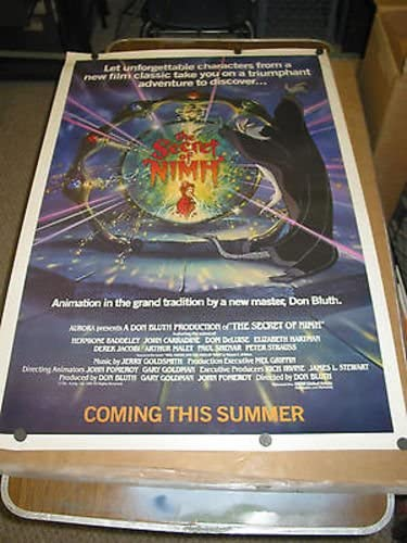 SECRET OF NIMH ORIG. U.S. ONE DON Spring new work one after another MOVIE New item BLU POSTER SHEET TEASER