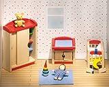 Goki 51905 - Kinderzimmer, 12-teilig, Puppenhausmöbel