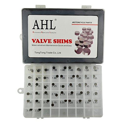 AHL 7.48mm O.D. Adjustable Valve Shim Kit 1.20mm-3.50mm Thick for Yamaha YZ250F YZ250 F 2001-2012 (47pcs)