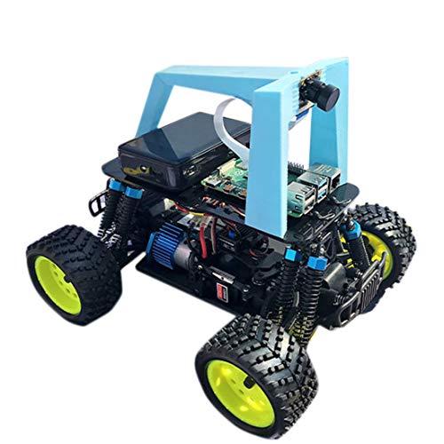 Dittzz Roboter Programmierbar Autopilot Robot Car Kompatibel mit Raspberry Pi4, Programmierbarer Auto Bausatz mit mit Rennstrecke