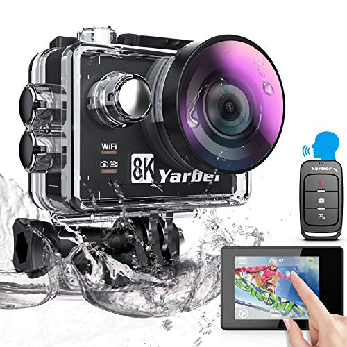 Yarber Action Cam, 8K 20MP Wi-Fi Impermeabile 30M Touch Screen...