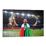 QOQOQO Póster decorativo de Leonardo Bonucci de campeón italiano del equipo de fútbol del campeón italiano de la pared del arte de la oficina, del restaurante del bar del aula del cartel de 50 x 75 cm
