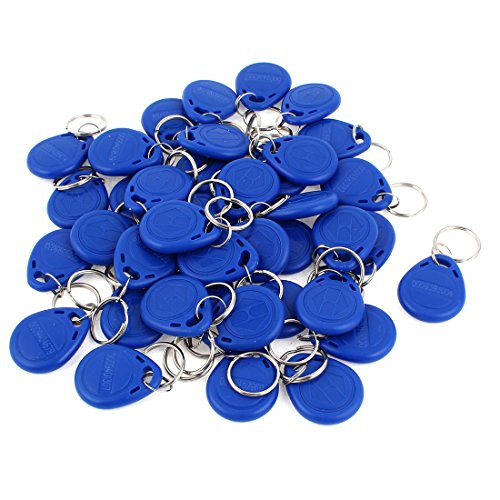 EM4100RFID-Transponder-Schlüsselring, 125 KHz, blau, 40 Stück