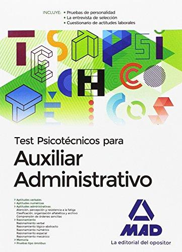 Test Psicotécnicos para Auxiliar Administrativo