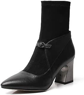 BalaMasa Womens Nubuck High-Heels Solid Urethane Boots ABM13618