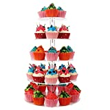 5 Tier Round Acrylic Cupcake Stand, Clear Cupcake Display Stand Tower, Tiered Cupcake Carrier, Cake Dessert Stands
