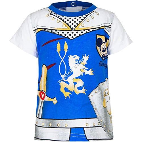 Tee shirt effet trompe-oeil chevalier bébé garçon Mickey Bleu et Rouge 6 à 23mois (12 mois, Blanc/bleu)