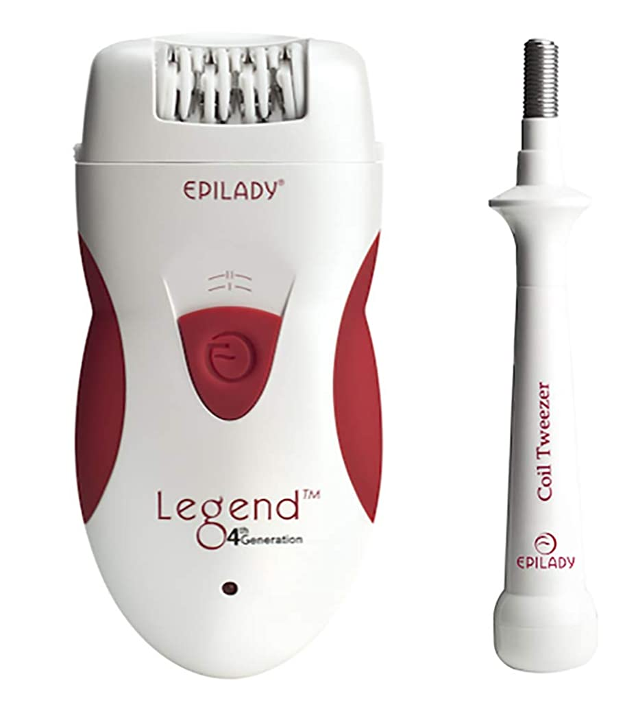 Epilady Legend 4th Generation Rechargeable Epilator + Free Epilady Coil Tweezer