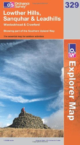 OS Explorer map 329 : Lowther Hills, Sanquhar & Leadhills