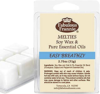 Sponsored Ad - Fabulous Frannie Easy Breathzy 2.5oz All Natural Soy Candle Meltie Tart Made with Pure Eucalyptus, Cajeput ...