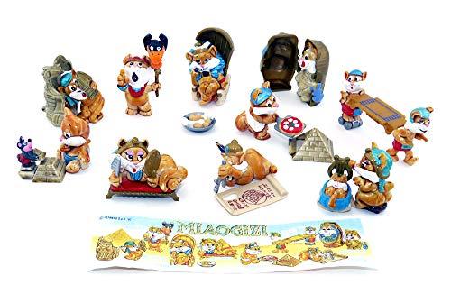 Katzen Figuren aus dem Überraschungsei von Ferrero. 10 Miaogizi Figuren mit Beipackzettel