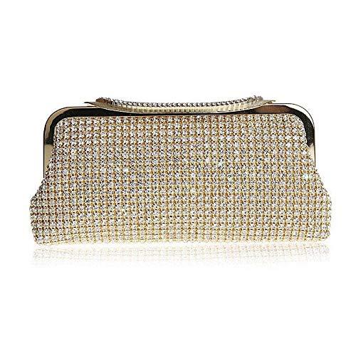 xiangpi rhinestone bag dinner bag banquet clutch bag dress bag fashion handbag-Golden
