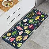 YANAIX Juegos de alfombras de Cocina Multiusos,Vector Set Adornos navideños Colgando de,Alfombrillas cómodas para Uso en el Piso de Cocina súper absorbentes y Antideslizantes