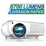 Vidéoprojecteur, TOPTRO 6700 Lumens Vidéo Projecteur Full HD 1920x1080P Natif Rétroprojecteur LCD...