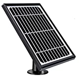 Solar Panel Compatible with RollGan A4 Security Camera Outdoor, Sturdy Durable Weatherproof Design Continuous Power Supply Solar Panel with 13ft Micro Charging Cable for Security Camera (No Camera)