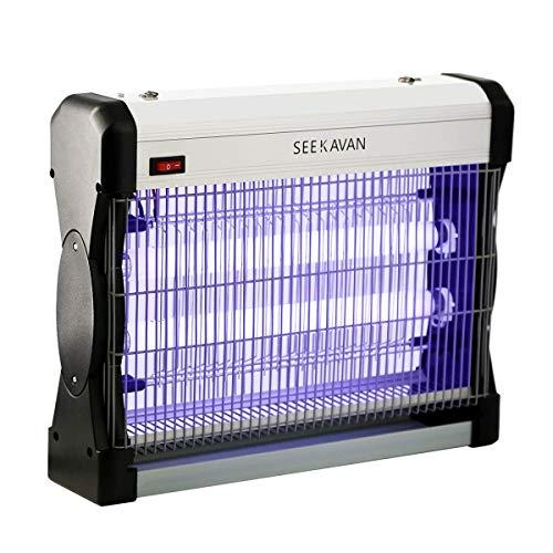 Seekavan Electrique,pièges, Lampe Unités de lumière ultraviolette (UV) Anti Insectes, Tue Mouche,Leurres répulsifs pour Animaux, Blanc