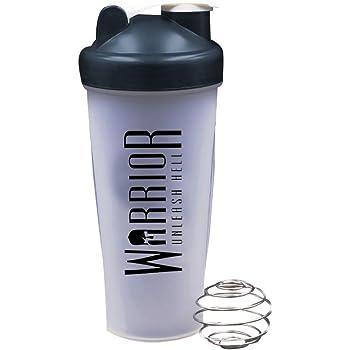 Warrior Supplements Protein Shaker Bottle 600ml - Mixball Shake Blender