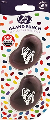 Jelly Belly 15755A 3D Gel-Mini Vent Lufterfrischer Duo Pack-Island Punch