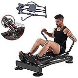 Ffitness FLMD412N Vogatore Professionale Allenamento Home Gym Casa Resistenza idraulica Fitness Cardio Total Body Trainer Crunch, Nero, Taglia Unica