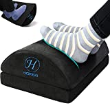 HOKEKI Upgraded Foot Rest Under Desk with Adjustable Height, Soft Yet Firm Foam Velvet Footrest Cushion, Foot Stool Rocker Pillow for Home, Office, Car, Airplane to Relieve Lumbar, Back, Knee Pain