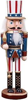 regalo di Natale in legno schiaccianoci ciondolo fantoccio 15.75in classico soldato americano forma schiaccianoci bambola soldato ornamento fatto a mano regalo per capodanno matrimonio compleanno