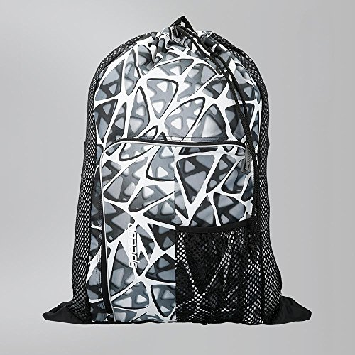 Speedo Deluxe Ventilator Mesh Bag Mochila, Unisex adulto, Blanco jaula, One Size