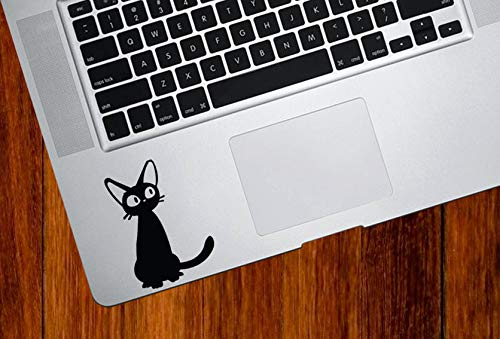 Wall Art TP - Jiji Cat Cat - Cartoon Cat - Anime Cat - Vinyl Trackpad Keyboard Tablet DecalEasy aan te brengen
