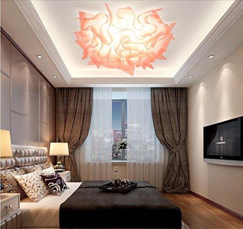 Lily's-uk Love Lumière de plafond Chambre Lumière Moderne Simple Créative En Forme De Fleur Led Changement De Couleur Romantique Romantique Salle De Mariage Lumières Lumière pour chambre d'enfants - Orange