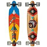 Hansson.Sports Top Longboard Komplett Skateboard Long Board 99cm (39 inch). 2 Motive zur Wahl...