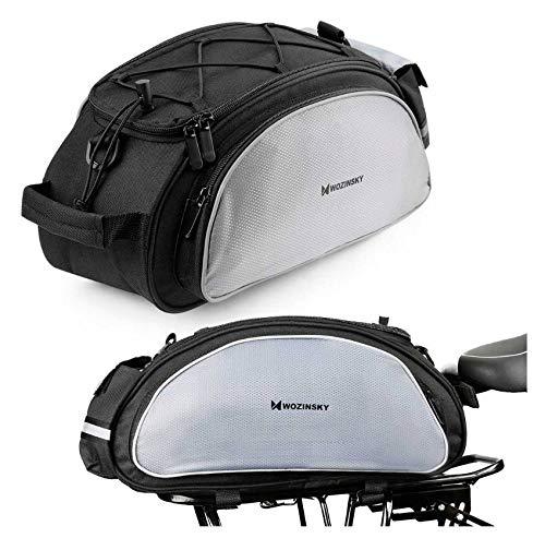 WOZINSKY Fahrrad Fahrradtasche Gepäckträger Gepäckträgertasche Reisetasche Tasche Wasserdicht Bike Bag 13L