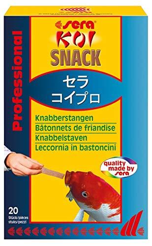 sera 07221 KOI SNACK 20 St - Da frisst Ihr Koi Ihnen aus der Hand - Leckerbissen aus Krill zur Ergänzung zum Koifutter oder Koisticks