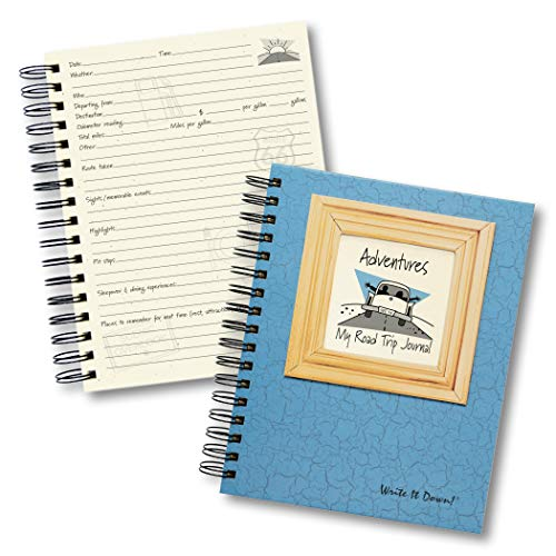 "Journals Unlimited""Write it Down!"" Series Guided Journal, Adventure, My Road Trip Journal, with a Blue Hard Cover, Made of Recycled Materials, 7.5""x 9"" Photo #8"