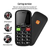 artfone Seniorenhandy ohne Vertrag | Dual SIM Handy mit Notruftaste | Rentner Handy große Tasten | 2G GSM Handy| |1000 mAh Akku Lange Standby-Zeit | Großtastenhandy - 3