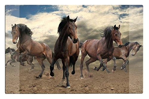 Schreibtischunterlage / Größe: 68x44cm / mit Pferdemotiv