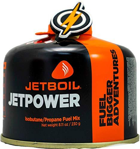 First and Only Airsoft Jetboil Jet Boil Jetpower Estufa de Gas propano a Gas en Bote de 230 g y Parche FAO, Potencia de propano para su Estufa/Estufa de Gas (230)