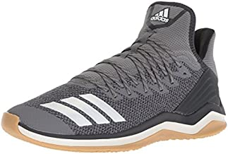 adidas Men's Icon 4 Baseball Shoe, Grey/Cloud White/Carbon, 14 M US