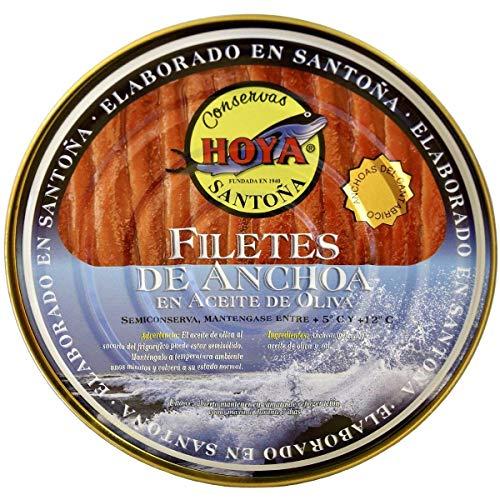 Hoya Anchoas de Santoña XL - 00 Lata de 500g/67 filetes. Elaboración Artesana con bocartes grandes del Cantábrico en Aceite de Oliva.