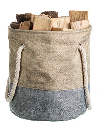 Brandseller Universele mand voor brandhout Ø 34 cm grijs