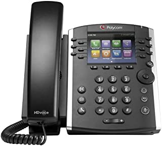 Polycom VVX 411 Corded Business Media Phone System - 12 Line PoE - 2200-48450-001 - AC Adapter (Included) - Replaces VVX 400 (Renewed)