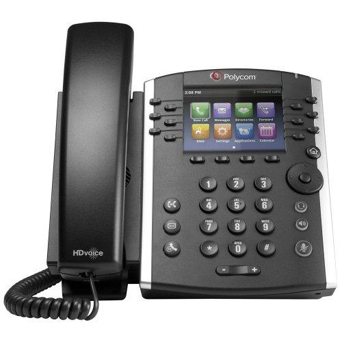 Polycom VVX 411 Corded Business Media Phone System - 12 Line PoE - 2200-48450-001 - AC Adapter Included (Polycom Hd Voice Phone Manual Vvx 400)