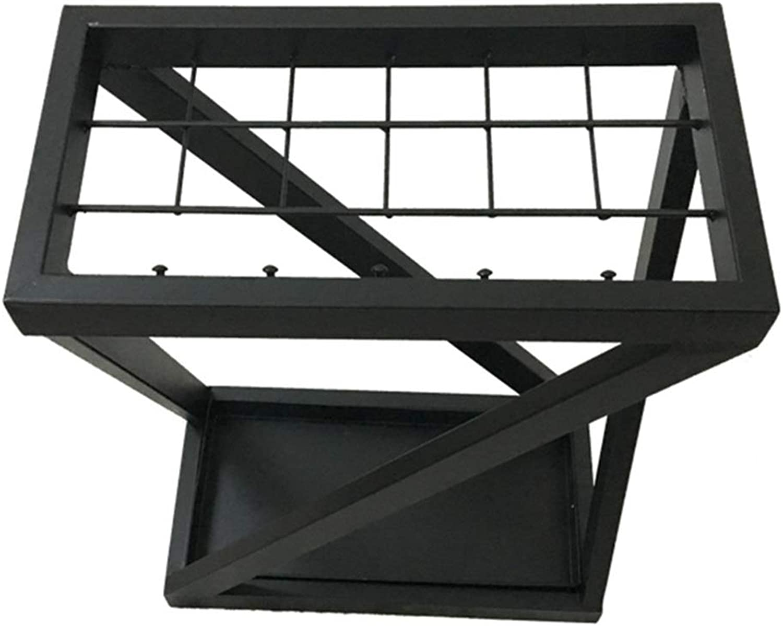 MYQ Umbrella Stand - Wrought Iron Storage Rack Corridor Office Umbrella Stand