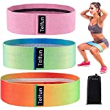 Telfun Multicolour Exercise Bands Resistance for Legs and Butt, Booty Loop Bands, Heavy, Non-Slip,...