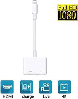 [Anna's Cottage]iPhone HDMI 変換 ケーブル ユーチューブをテレビで見る Lightning avアダプタ Lightning HDMI ケーブル HD 1080P 高解像度 設定不要 大画面 簡単接続 音声同期出力 iPhone iPad (IOS 9以降対応)