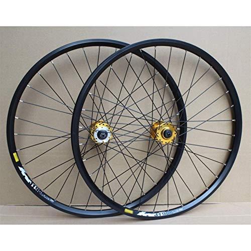 TYXTYX Ejes de liberación rápida Accesorio para Bicicleta Juego de Ruedas para Bicicleta MTB 24 Pulgadas Disco de llanta de Doble Capa/Freno de llanta Rueda de Bicicleta 8-10 velocidades 32H Bici