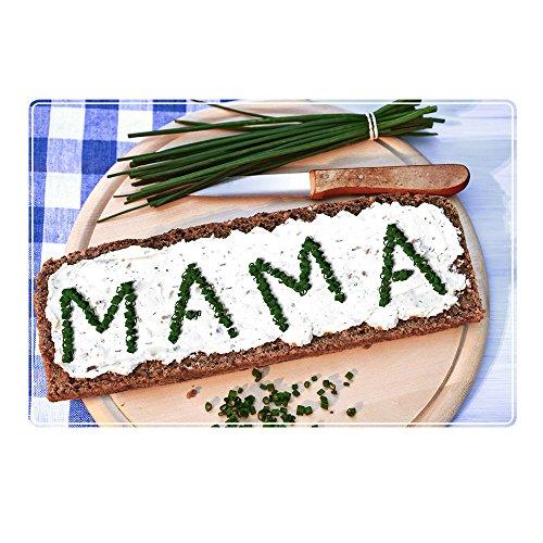 Tischset mit Namen ''Mama'' Motiv Schnittlauch - Tischunterlage, Platzset, Platzdeckchen, Platzunterlage, Namenstischset