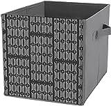 Caja de almacenamiento para dormitorio | Caja de almacenamiento cuadrada plegable, cesta organizadora duradera, impresión en blanco y negro