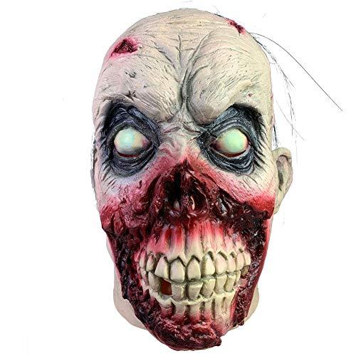 KDLK Halloween cos Mask Horror Ghost Face Cara Podrida má