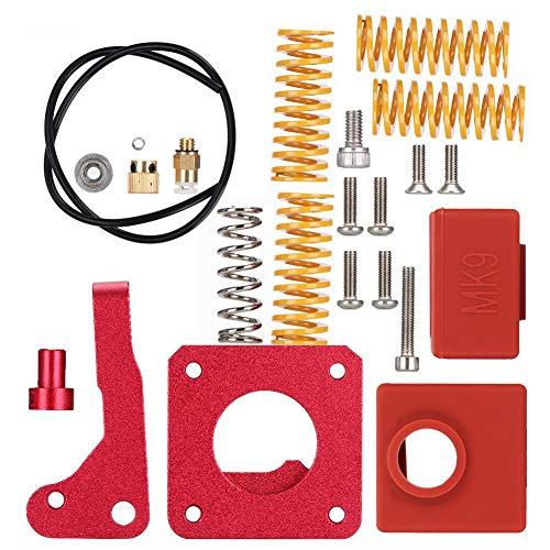 Qinlorgon Durable Springs Extruder Kit, Extruder Block Kit, Metal Performance Creality Ender 3 Printers