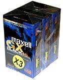 Maxell-Cinta de vídeo VHS-C EC GX 45-Paquete de 3...